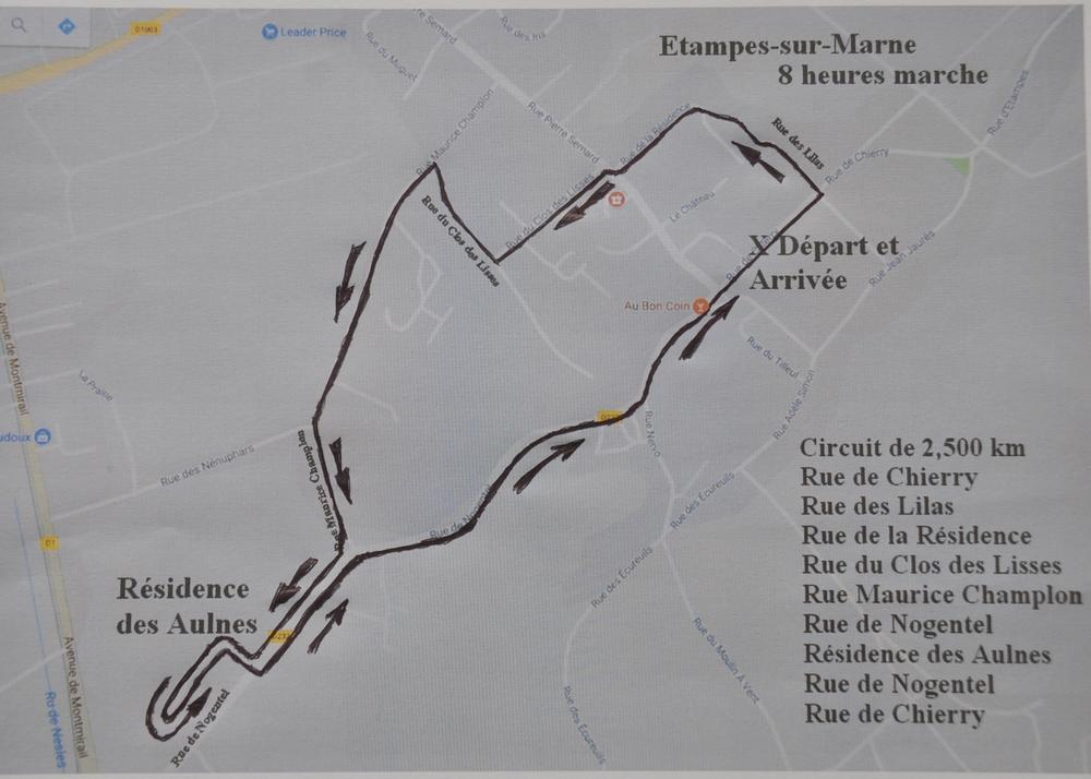26-11-2017 - 8 Heures d'Etampes-sur-Marne Parcours-8h-Etampes-2017